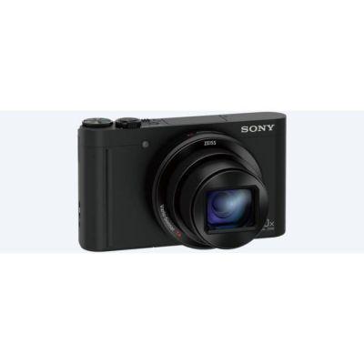 image Sony DSCWX500B Appareils Photo Numérique, Capteur CMOS Exmor R, 18.2 Mpix, Zoom Optique 30x, Stabilisation 5 axes Noir