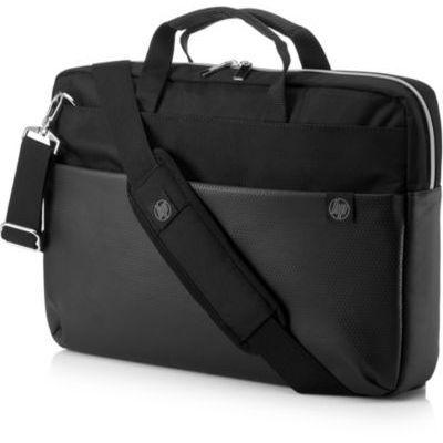 """image HP Pavilion Accent Sacoche pour Ordinateur Portable jusqu'à 15,6"""" (Résitante à l'Eau, 41 x 7 x 28 cm) - Noir/Argenté"""