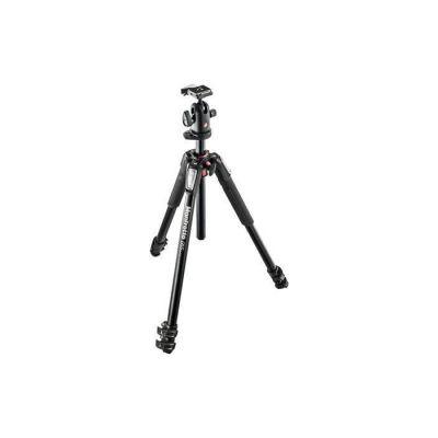 image Manfrotto Kit trépied à 3 Parties avec Rotule en Aluminium, Support pour Smartphone, Stabilisateur Appareil Photo, Bras Magique, Accessoires de Photographie