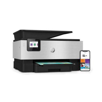 image HP imprimante OfficeJet Pro 9010 à Jet d'encre Multifonction (Impression, Numérisation, Photocopie, Télécopie, Wi-Fi Direct)