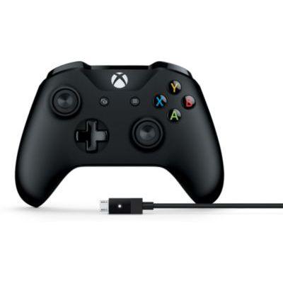 image Microsoft Manette Xbox One + Câble pour PC et Xbox