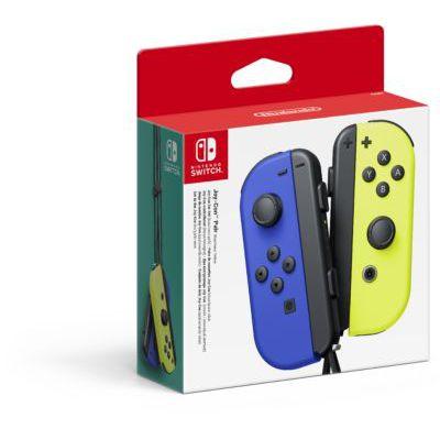 image Paire de manettes Joy-Con gauche bleue et droite jaune néon