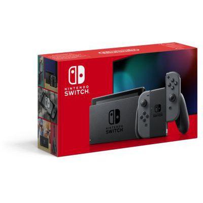 image Console Nintendo Switch avec une paire de Joy-Con grises : Nouvelle version, Meilleure autonomie