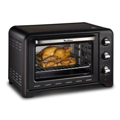 image Moulinex Optimo 33L Four Electrique Chaleur tournante Noir 6 Modes de Cuisson pain pizza tartes gateaux patisseries Grille et Leche frites inclus OX464810