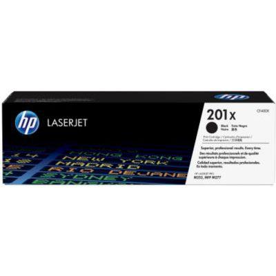 image HP 201X CF400X toner haut rendement Authentique, imprimantes HP Color LaserJet Pro M252/M274/M27, Noir
