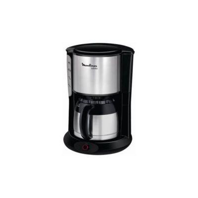 image Moulinex FT360811 Cafetière Filtre Subito Isotherme 8-12 Tasses Verseuse Inox Anti-Goutte Maintien au Chaud 4 Heures Café Noir
