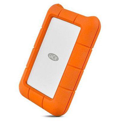 image LaCie Rugged USB-C 2 To, disque dur externe portable USB 3.0, résistant aux chutes /chocs / poussière / pluie (STFR2000800)