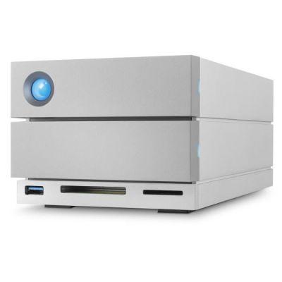 image LaCie 2big Dock RAID 16 To, disque dur externe RAID HDD, emplacements cartes SD et CF, pour Mac et PC, Thunderbolt 3 USB-C USB 3.0, abonnement 1 mois à Adobe CC récupération des données (STGB16000400)