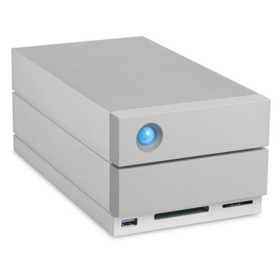 image LaCie 2big Dock RAID 20 To, disque dur externe RAID HDD, emplacements cartes SD et CF, pour Mac et PC, Thunderbolt 3 USB-C USB 3.0, abonnement 1 mois à Adobe CC récupération des données (STGB20000400)