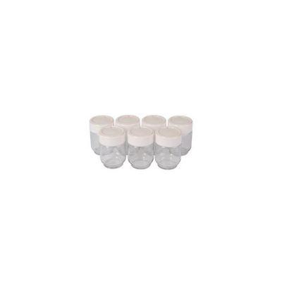 image Moulinex A14A03 Yaourtières 7 Pots Verre Couvercle Blanc Yogurta transparent