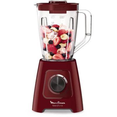 image Moulinex LM420510 Blender Mixeur Électrique Blendforce Capacité 2L Smoothie Soupe Fruits Légumes Glace Pilée 600W Rouge