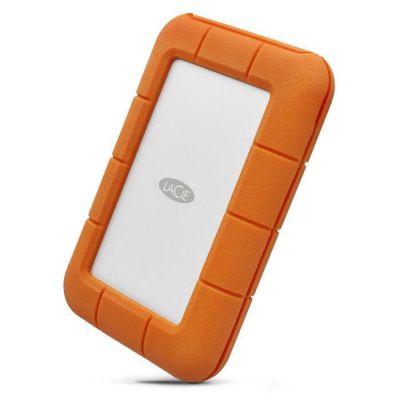 image LaCie Rugged USB-C 5 To, disque dur externe portable HDD, USB 3.0, résistant aux chutes, aux chocs, à la poussière et à la pluie, pour Mac et PC, abonnement de 1 mois à Adobe CC (STFR5000800)