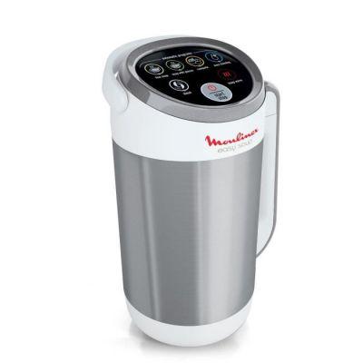 image Moulinex Easy Soup Blender Chauffant, Robot cuiseur, Double Paroi, Capacité 1,2 L, Soupe, Velouté, Compote, Smoothies, Maintien au Chaud, 1000 W, 5 Programmes Automatiques LM841110