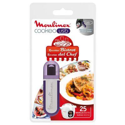 image Moulinex Clé USB de 25 Recettes Bistrot Tradition XA600411 Accessoire Cookeo Officiel Compatible avec Multicuiseurs Cookeo YY2943FB CE702100