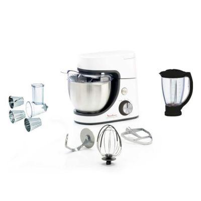 image MOULINEX YY4320FG Robot Pâtissier Masterchef Gourmet Kit Pâtisserie, Blender, Découpe Légumes 8 Vitesses