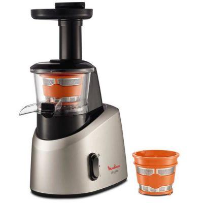 image Moulinex ZU255B10 Extracteur de Jus Infiny Juice Pressoir Fruits et Légumes 82 tours/minute Centrifugeuse Pression à Froid Silencieux 200W Gris