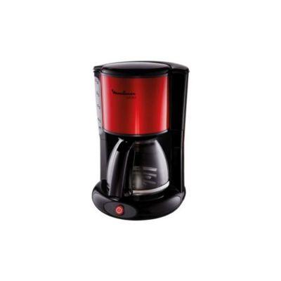 image MOULINEX Cafetières filtre SUBITO rouge10/15 Tasses Machine à café cafetière électriqueCafetière Capacité 1.25L Antigoutte Porte-filtre pivotant Auto off 30 minutes FG360D11