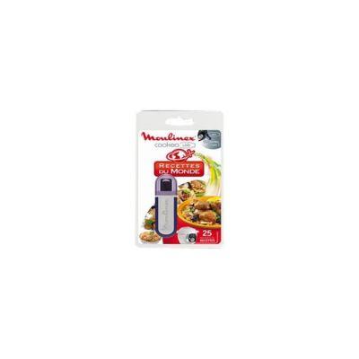 image Moulinex Clé USB de 25 Recettes Du Monde XA600111 Accessoire Cookeo Officiel Compatible avec Multicuiseurs Cookeo YY2943FB CE702100