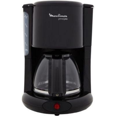 image MOULINEX Cafetières filtre Principio noir 10/15 tasses Machine à café cafetière électrique Cafetière Machine café Capacité 1.25L Antigoutte Porte-filtre pivotant Auto off 30 minutes FG260811