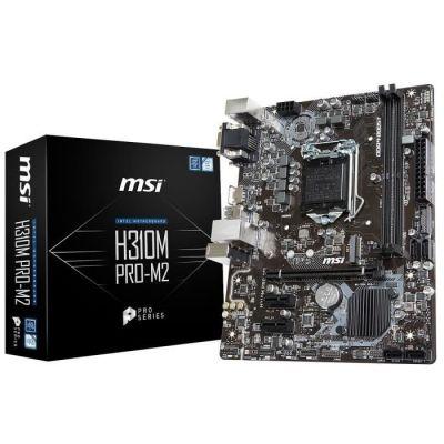 image MSI 7C08-001R Carte Mere H310M Pro-M2 Plus LGA 1151 ATX Noir