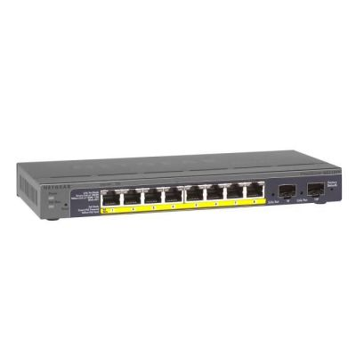 image NETGEAR (GS110TP) Smart Switch Ethernet PoE Web Manageable 8 Ports RJ45 Gigabit (10/100/1000) | 8 Ports PoE 53 W et 2 Ports SFP Gigabit| Protection à vie ProSAFE