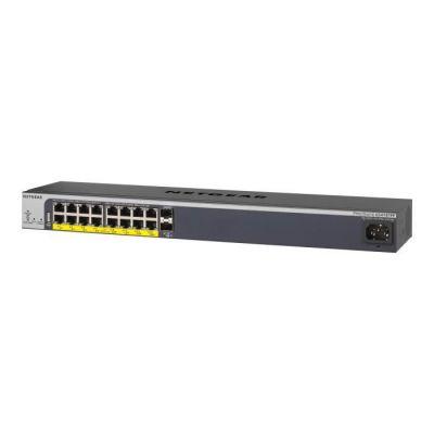image NETGEAR (GS418TPP) Smart Switch Ethernet PoE+ manageable professionnel 18Ports RJ45 Gigabit (10/100/1000) - avec 16Ports PoE+ @ 240W, 2Ports SFP 1Gigabit, bureau/rack et protection à vie ProSAFE
