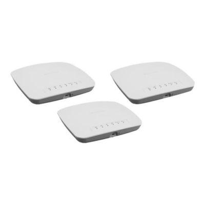 image NETGEAR point d'accès WiFi (WAC510B03) - Bi-bandes AC1300| Jusqu'à 200 appareils clients| 1 port Ethernet 1G LAN | MU-MIMO| Gestion à distance Insight| PoE ou alimentation 220V en option| Pack de 3