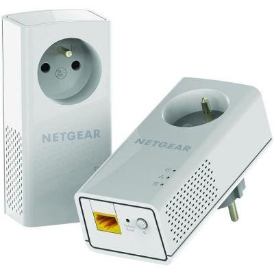 image NETGEAR PLP2000-100FRS Pack de 2 prises CPL 2000 Mbps avec Prise filtrée et 2 Ports Ethernet, Compatibles avec tous les modèles de la gamme et toutes les Box Internet, idéal pour le Multi-TV
