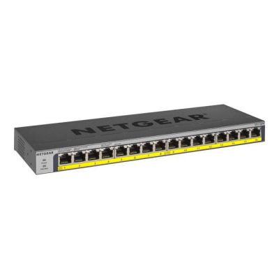image NETGEAR (GS116PP) Switch Ethernet PoE+ 16 Ports RJ45 gigabit (10/100/1000) , 16 Ports PoE+ à 183W, position bureau ou rackable, Protection ProSAFE, Garantie à Vie Parfait pour les PME et TPE