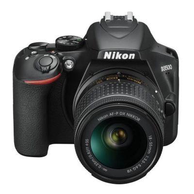 image Nikon Kit Reflex numérique D3500 + AF-P DX 18-55 f/3.5-5.G VR Noir & Case Logic DCB306 Housse en nylon pour appareil photo réflex Noir