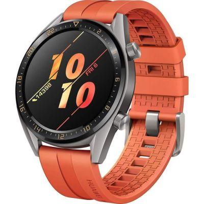 image Huawei Watch GT Active Montre Connectée (GPS, boîtier 46mm) avec Bracelet Sport Orange