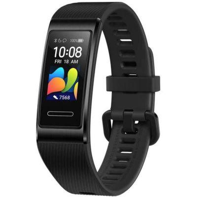 """image HUAWEI Band 4 Pro - Bracelet Connecté Fitness avec Écran Tactile AMOLED de 0.95"""", Capteur de Fréquence Cardiaque Continu 24/7, GPS Intégré, Étanchéité 5ATM, Noir"""