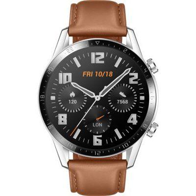 image HUAWEI Watch GT 2(46mm) Montre Connectée, Autonomie de 2 Semaine, GPS Intégré, 15 Modes de Sport, Suivi du Rythme Cardiaque en Temps Réel, Appels Bluetooth, Classique Beige