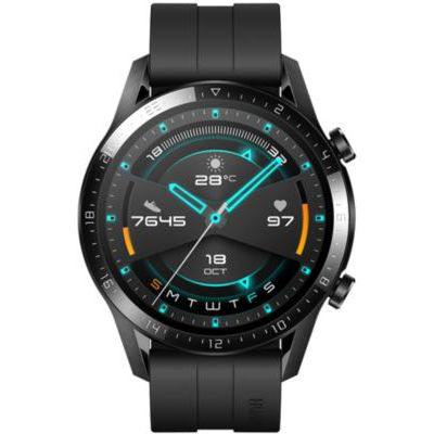 image HUAWEI Watch GT 2(46mm) Montre Connectée, Autonomie de 2 Semaine, GPS Intégré, 15 Modes de Sport, Suivi du Rythme Cardiaque en Temps Réel, Appels Bluetooth, Sport Noir