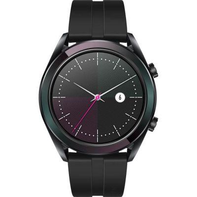 image Huawei Watch GT Elegant Montre Connectée (GPS, boîtier 42mm) avec Bracelet Noir