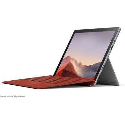 "image Pack Microsoft Surface Pro 7 (Windows 10, écran Tactile 12.3"", Intel Core i5, 8Go RAM, 256Go SSD, Platine) + Type Cover Noir + Stylet Surface Platine + Souris Microsoft Surface Mobile Platine"