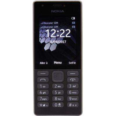 image Nokia 216 - Téléphone portable débloqué GSM (Ecran 2,4 pouces, ROM 16Mo + jusqu'à 32Go via carte SD, Single SIM) Noir
