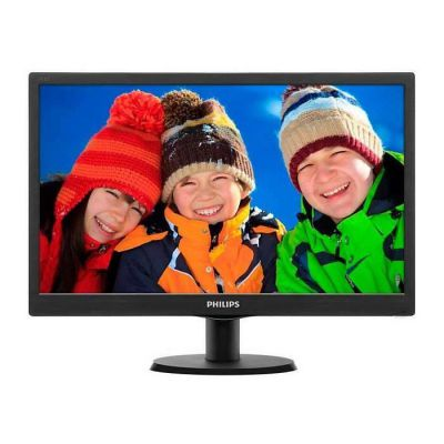 "image Phillips Ecran PC LED 18.5"" 1366x768 16:9 5ms & câble VGA vers VGA - Noir - 3,3 m"