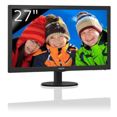 "image Philips 273V5LHAB/00 Moniteur PC LED 27"" (68,58 cm) 1920x1080 5 ms HDMI/DVI/VGA"