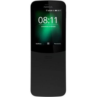 image produit Nokia 8110 - Téléphone portable débloqué 4G (Ecran 2,4 pouces, ROM 32Go, Double SIM Appareil photo 2MP) Noir - livrable en France