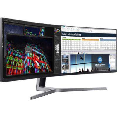 """image Samsung Curved Ultra-Wide Moniteur 49"""" LC49J890DKU - Écrans plats de PC (124.2 cm (48.9""""), 3840 x 1080 pixels, 5 ms, Black)"""