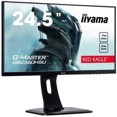 "image Iiyama G-Master Red Eagle GB2560HSU-B1 Moniteur Gaming 24,5"" Full HD 1 ms Freesync 144 Hz VGA/DP/HDMI Hub USB Pied réglable en hauteur Multimédia Châssis Slim Noir"