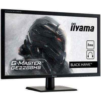 image iiyama GMaster Black Hawk GE2288HS Moniteur Gaming 21,5'' Full HD 1 ms Fresync 75 Hz VGA/DVI/HDMI Multimédia Noir