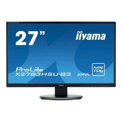 "image Iiyama Prolite X2783HSUB3 Ecran LED 27"" AMVA Full HD 4 ms VGA/DP/HDMI Hub USB Multimedia Noir"