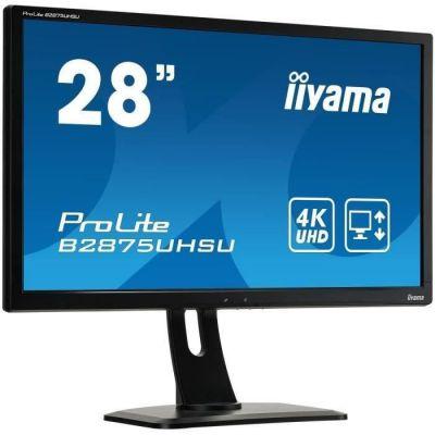 "image iiyama ProLite B2875UHSU-B1 Écran LED 28"" TN 1 ms 4K UHD VGA/DP/HDMI Hub USB Pied réglable en hauteur Multimédia Noir"