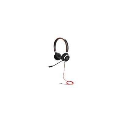 image Jabra Evolve 40 UC Stereo Casque audio - Casque Unified Communications pour VoIP Softphone avec annulation passive du bruit - Jack 3,5 mm uniquement - Noir