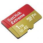 image produit Carte Mémoire MicroSDXC SanDisk Extreme 1 To + Adaptateur SD (160 Mo/s, Classe UHS 3 (U3), V30) - livrable en France