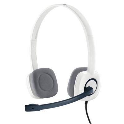 image Logitech H150 Casque Filaire, Ecouteurs Stéréo avec Micro Rotatif Anti-Parasites, Double Fiche Jack 3,5mm, Contrôles Intégrés, PC/Mac/Portable - Blanc