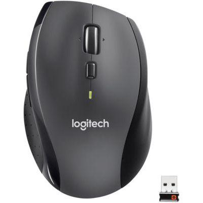 image Logitech M705 Souris sans Fil Marathon, 2,4 GHz avec Nano-Récepteur USB Unifying, Suivi Laser 1000 PPP, 7 Boutons, 2 Boutons Supplémentaires, Batterie Longue Durée 3 Ans, PC/Mac/Portable - Noire