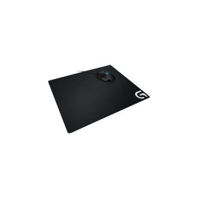image Logitech G640 Tapis de Souris Gamer en Tissu, Pour Souris Gaming Filaire ou sans Fil, 460 x 400mm, Epaisseur 3mm, Compatible avec PC/Mac - Noire